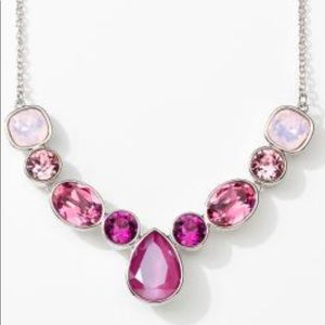 Rose Garden Necklace Touchstone Crystal Swarovski